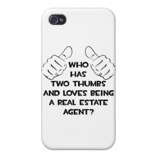 Two Thumbs .. Real Estate Agent iPhone 4 Cover