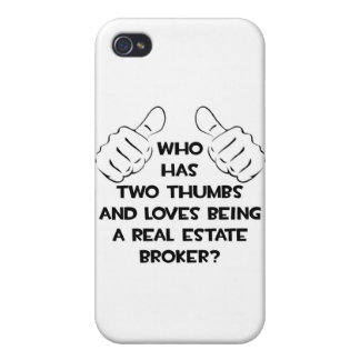 Two Thumbs .. Real Estate Broker iPhone 4/4S Case