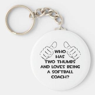 Two Thumbs .. Softball Coach Keychains