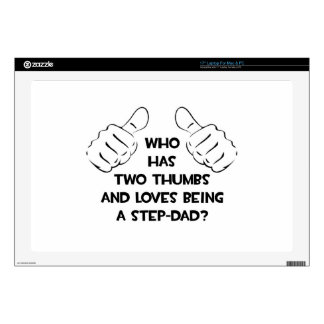 """Two Thumbs .. Step-Dad 17"""" Laptop Decals"""