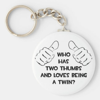 Two Thumbs .. Twin Keychain