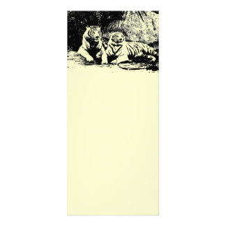Two Tigers in Black and White Rack Card