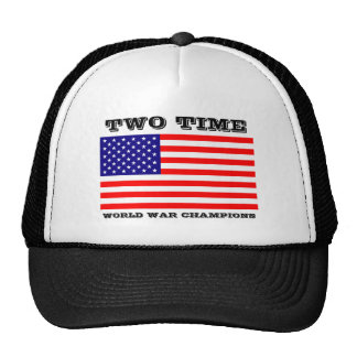 Two Time World War Champions Hat