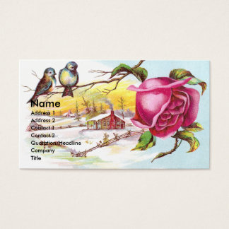 Two Tiny Birds & Rose Victorian Trade Cardr Business Card