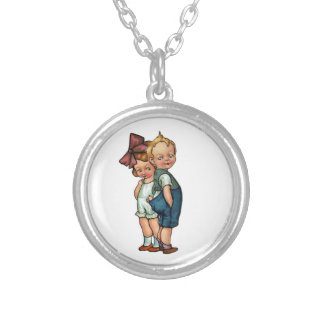 Two Tiny Tots Silver Plated Necklace