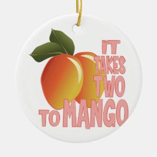 Two To Mango Ceramic Ornament