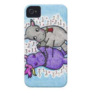 Two to Tango Hippos Case-Mate iPhone 4 Cases