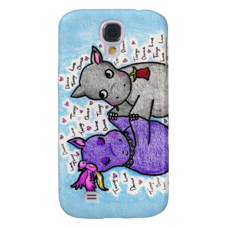 Two to Tango Hippos Samsung Galaxy S4 Cases