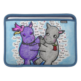 Two to Tango Hippos MacBook Air Sleeves