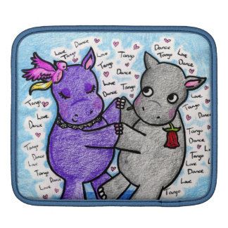Two to Tango Hippos Sleeves For iPads