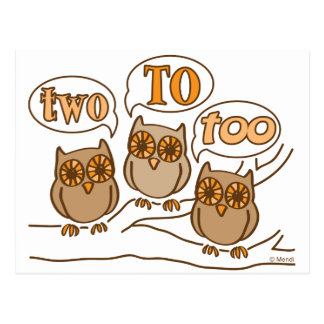 Two To Too Postcard