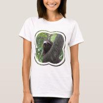 Two Toed Sloth Ladies T-Shirt