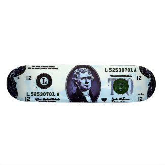 Two-Toes Jefferson Vintage Graphic Art Trick Skateboard