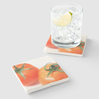 Two tomatoes stone coaster