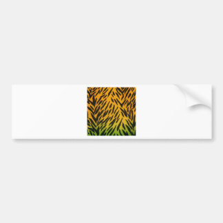 Two Tone Animal Print Bumper Sticker