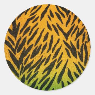 Two Tone Animal Print Round Stickers