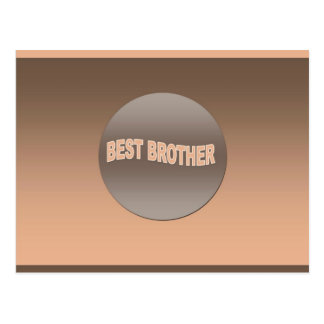 Two Tone Best Brother Postcard