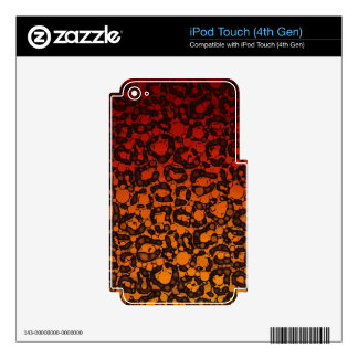 Two Tone Black Red Cheetah iPod Touch 4G Decal