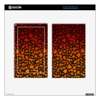 Two Tone Black Red Cheetah Kindle Fire Skin