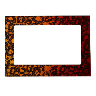 Two Tone Black Red Cheetah Magnetic Frame