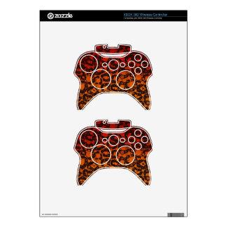 Two Tone Black Red Cheetah Xbox 360 Controller Skin