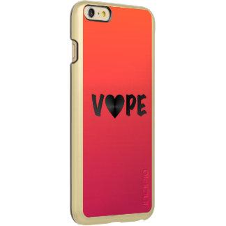 Two Tone Black Vape Heart Incipio Feather Shine iPhone 6 Plus Case