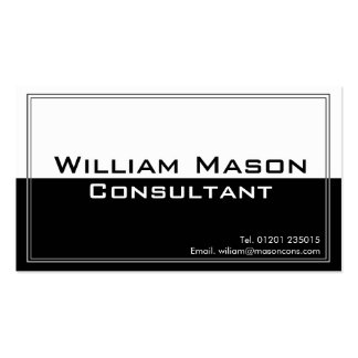 Two Tone Black White Professional Business Card