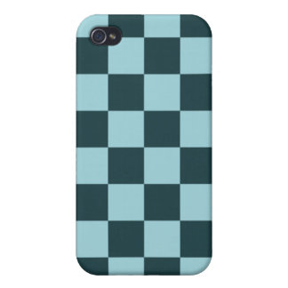 Two Tone Blue Checker Pattern iPhone 4/4S Case