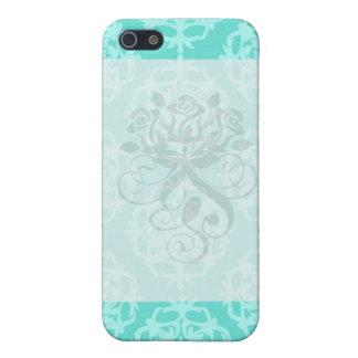two tone blue damask iPhone SE/5/5s case