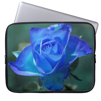 Two Tone Blue Rose Laptop Sleeve