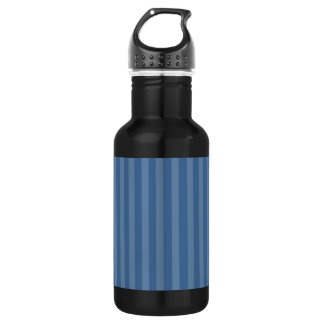 Two Tone Blue Stripes Stainless Steel Water Bottle