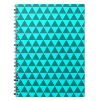 Two Tone Blue Triangle Notebook