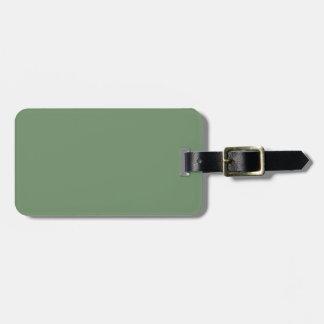 Two-Tone Brown & Sage Green Luggage Tag