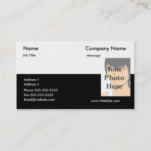 Soho business cards templates zazzle two tone business card reheart Choice Image