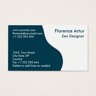 Two-tone Business Card - Deep Blue and White