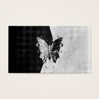 Two Tone Butterfly Business Card