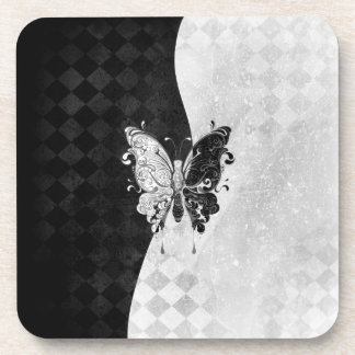 Two Tone Butterfly Coaster