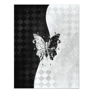 Two Tone Butterfly Personalized Invite