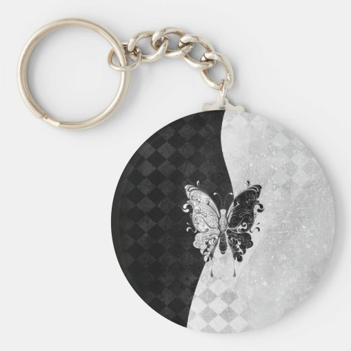 Two Tone Butterfly Keychain