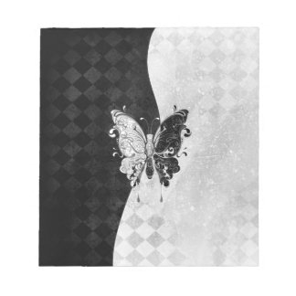 Two Tone Butterfly Memo Note Pad