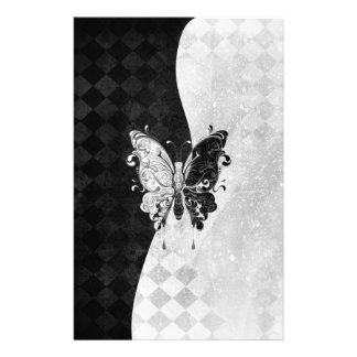 Two Tone Butterfly Stationery