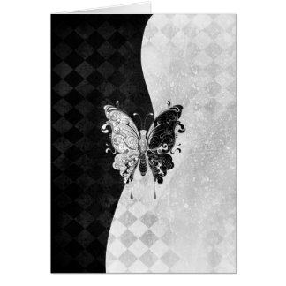 Two Tone Butterfly Stationery Note Card