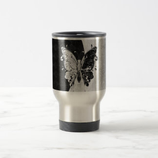 Two Tone Butterfly Travel Mug