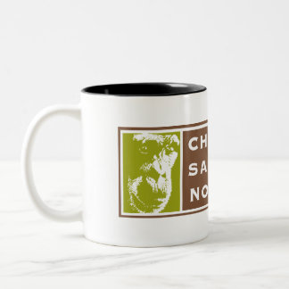 Two-tone Chimpanzee Sanctuary Northwest Logo Mug