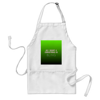 Two Tone Christmas Bling Adult Apron