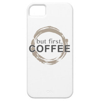 Two-Tone Coffee Mug - But First, Coffee iPhone SE/5/5s Case