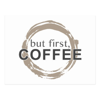 Two-Tone Coffee Mug - But First, Coffee Postcard