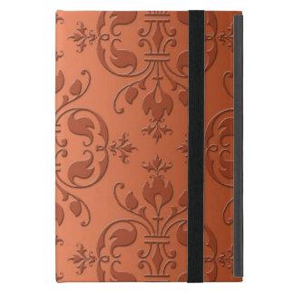 Two Tone Copper Orange Damask iPad Mini Cover