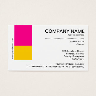 Two Tone Decor - Hot Pink and Amber Business Card