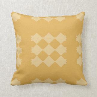 Two Tone Diamond Pattern Throw Pillow